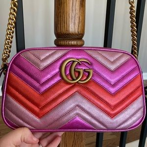 Gucci Metallic Marmont Mini Matelasse Bag